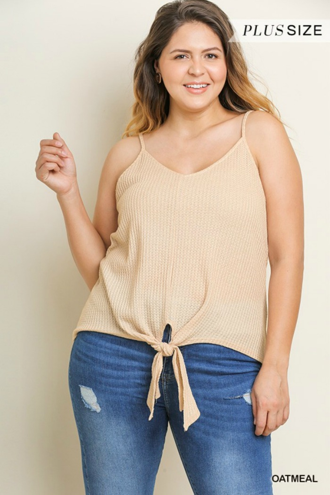 9ae935471a3 Umgee Plus Size Waffle Tank from California by Girl s Fashionably ...