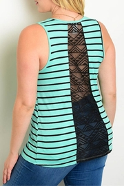 Zenobia Plus-Sized Mint Tank - Front full body