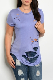 Zenobia Plus-Sized Torn Tee - Product Mini Image