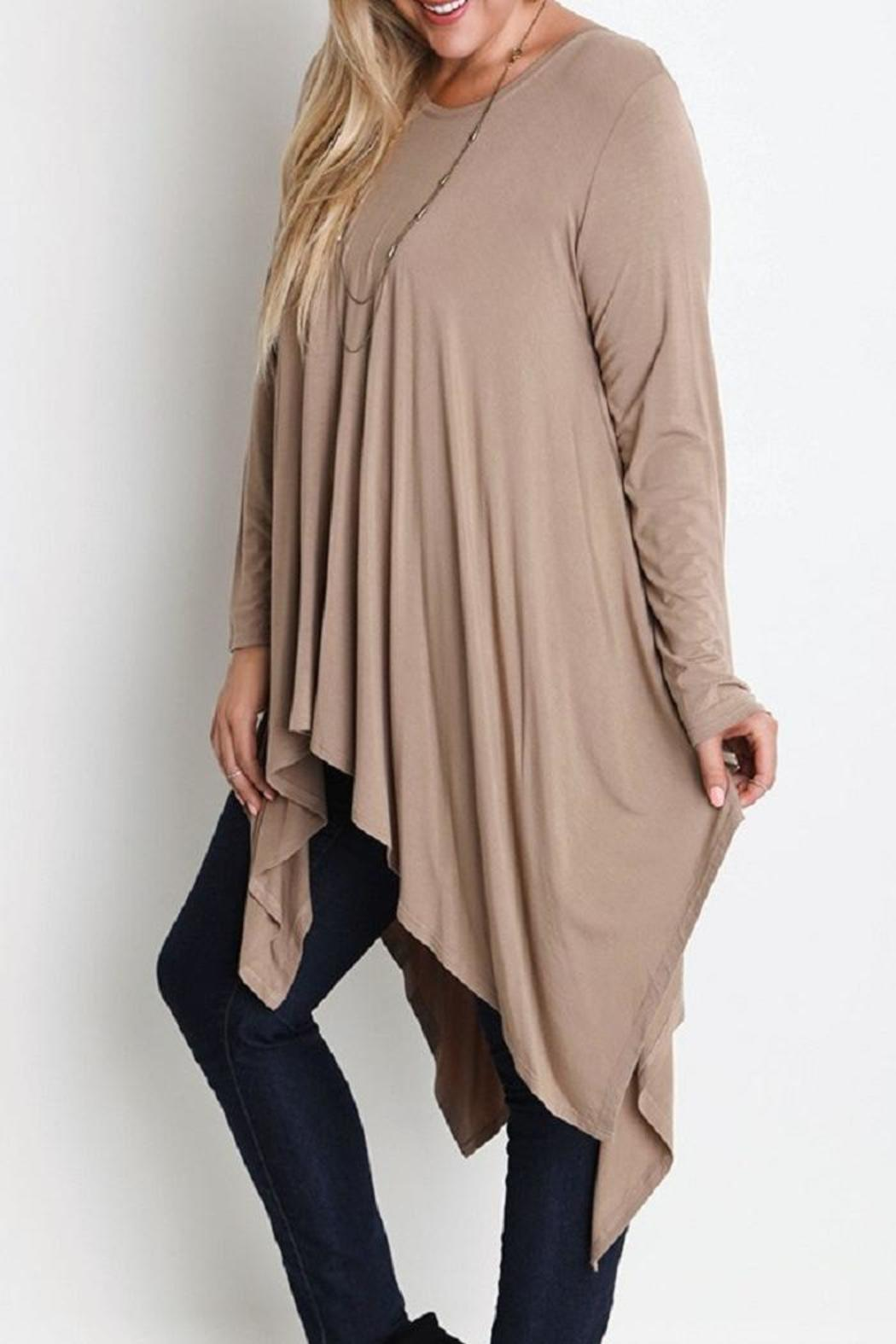 Plus Trapeze Tunic - Front Full Image