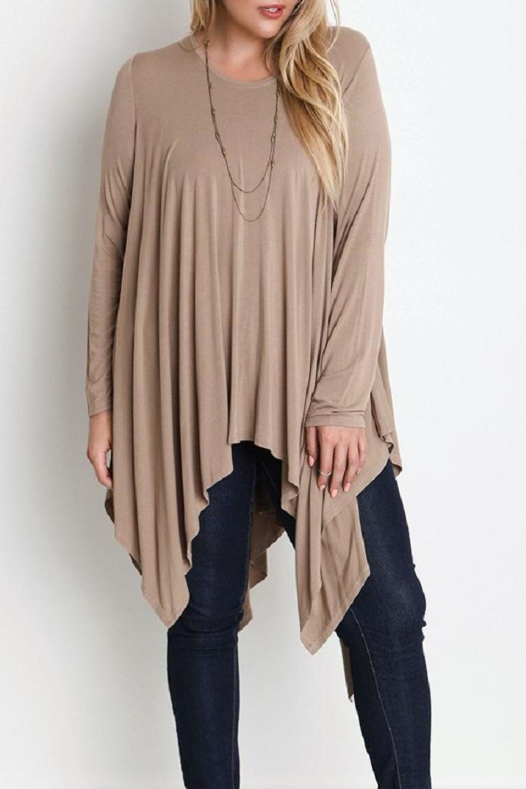 Plus Trapeze Tunic - Front Cropped Image
