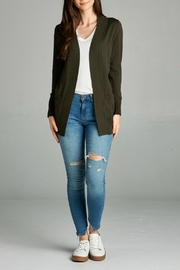 Plus Story Double Pocket Cardigan - Side cropped