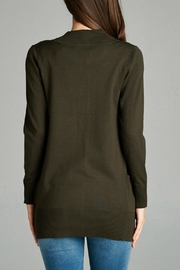 Plus Story Double Pocket Cardigan - Front full body