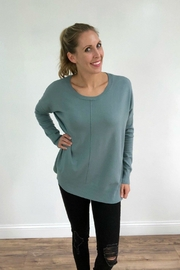 Dreamers Plush Aqua Sweater - Product Mini Image