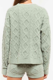 POL Plush Cable-Knit Sweater - Product Mini Image