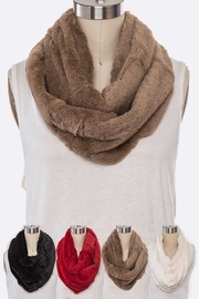 Lyn -Maree's Plush Faux Fur Infinity Scarf - Product Mini Image