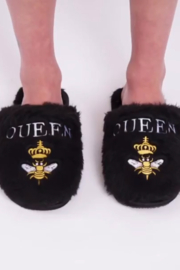 LA Trading Co Plush Queen Bee Slippers - Product Mini Image