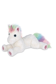 The Bearington Collection Plush Rainbow Unicorn - Front cropped