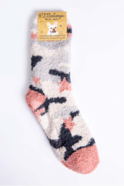 PJ Salvage Plush Socks Assorted Patterns - Front cropped