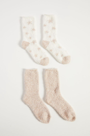 z supply Plush Star Socks 2 Pack - Front cropped