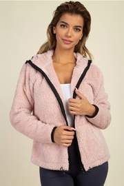 iris Plush zip up hoodie - Front cropped