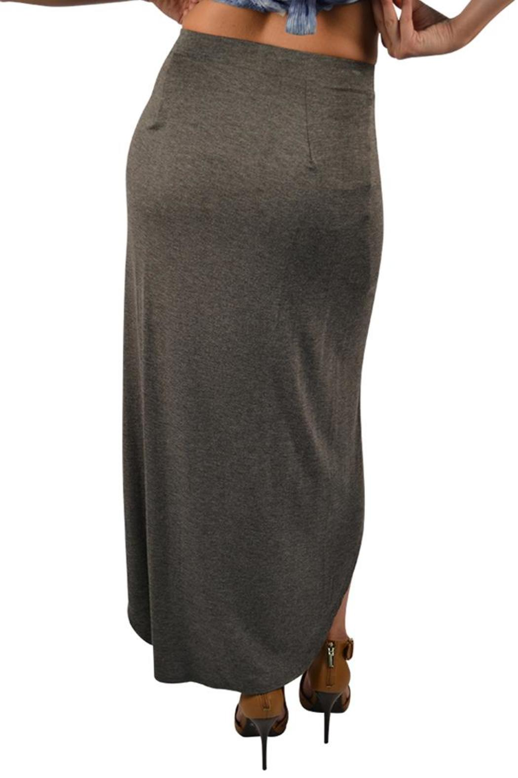 poche 1913 grey high low skirt from lafayette by brothers