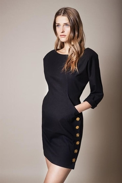 Smythe Pocket Black Dress - Product List Image