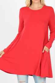 Zenana Pocket Curvy Tunic Dress - Product Mini Image