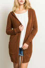 Hem & Thread Pocket detail cardigan sweater - Product Mini Image
