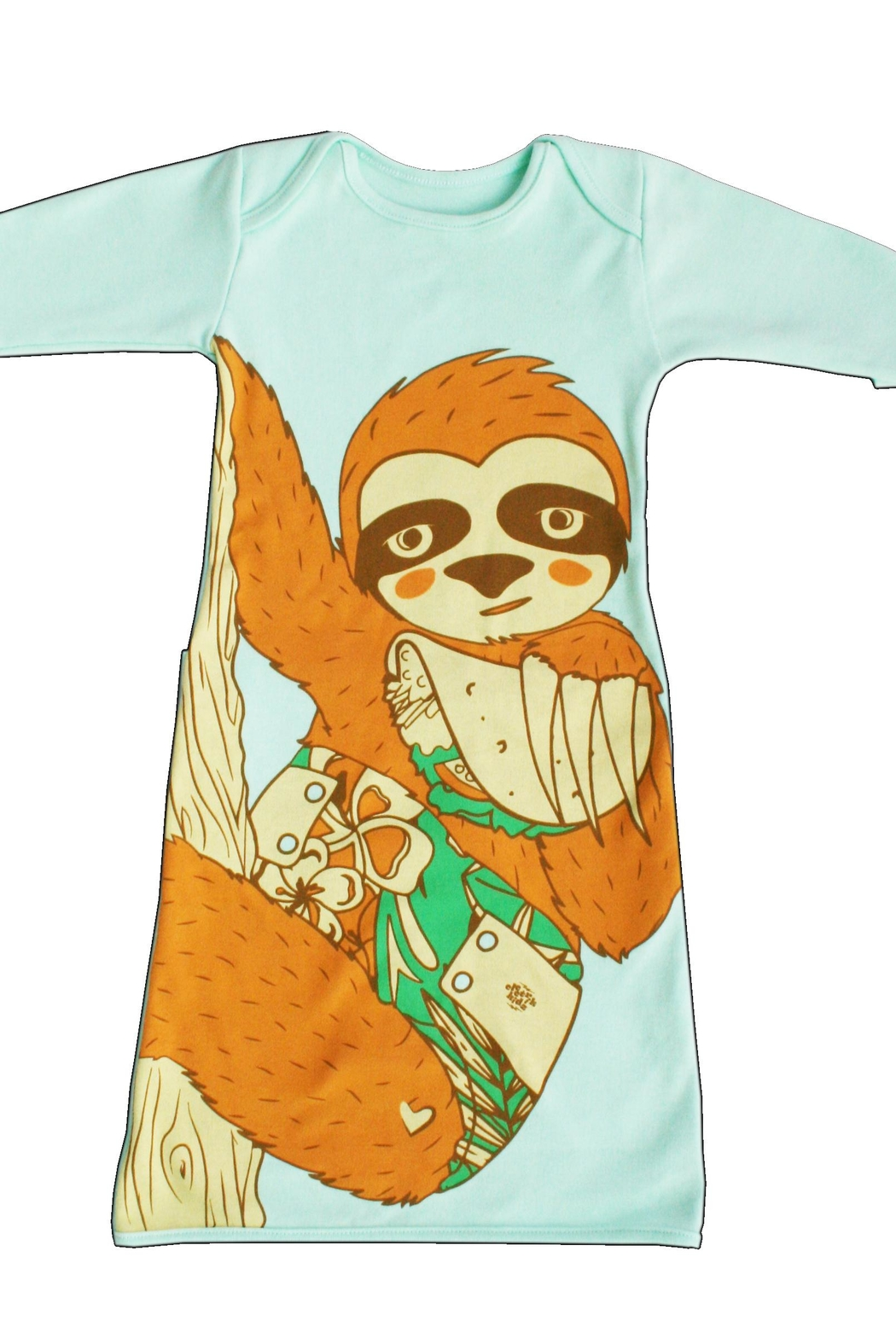 Electrik Kidz Pocket Gown - Sloth - Front Full Image