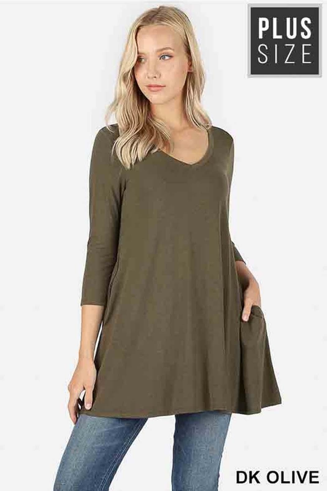 e1d5a422afe Zenana Outfitters Pocket Plus Tunic from New York by Avenue A ...