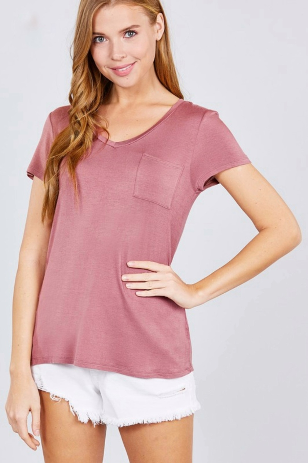 Active Basic pocket tee - Front Cropped Image