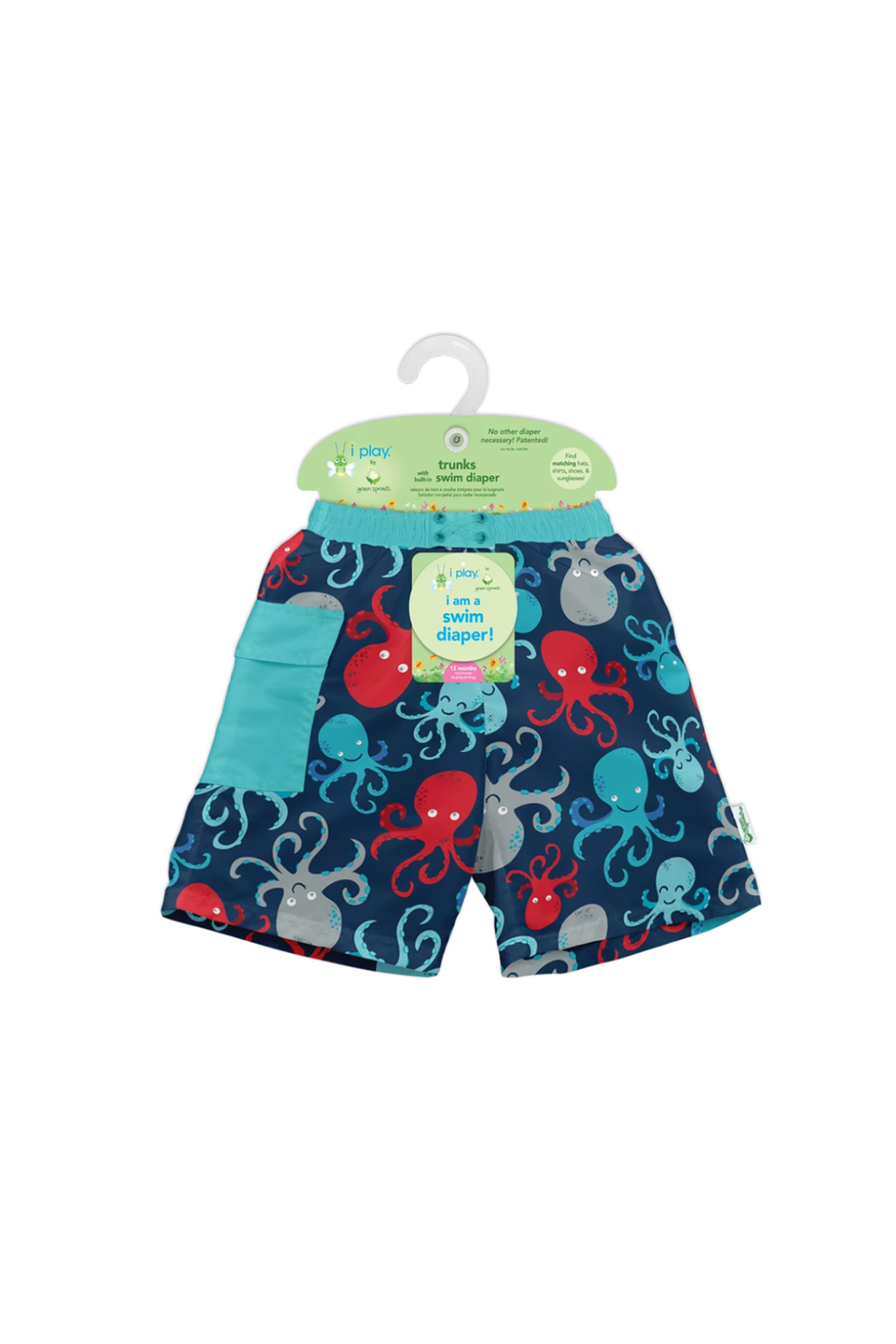 Green Sprouts Pocket Trunks with Built-in Reusable Absorbent Swim Diaper - Side Cropped Image