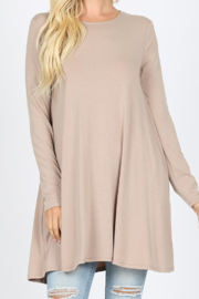 Zenana Pocket Tunic Dress - Product Mini Image