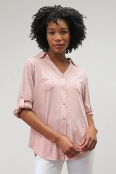 Shoptiques Product: Pocketed Button-Down Blouse