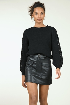 Shoptiques Product: Pocketed Leather Skirt