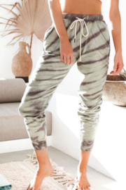 The Emerald Fox Boutique Pocketed Tie-dye Print Joggers - Product Mini Image