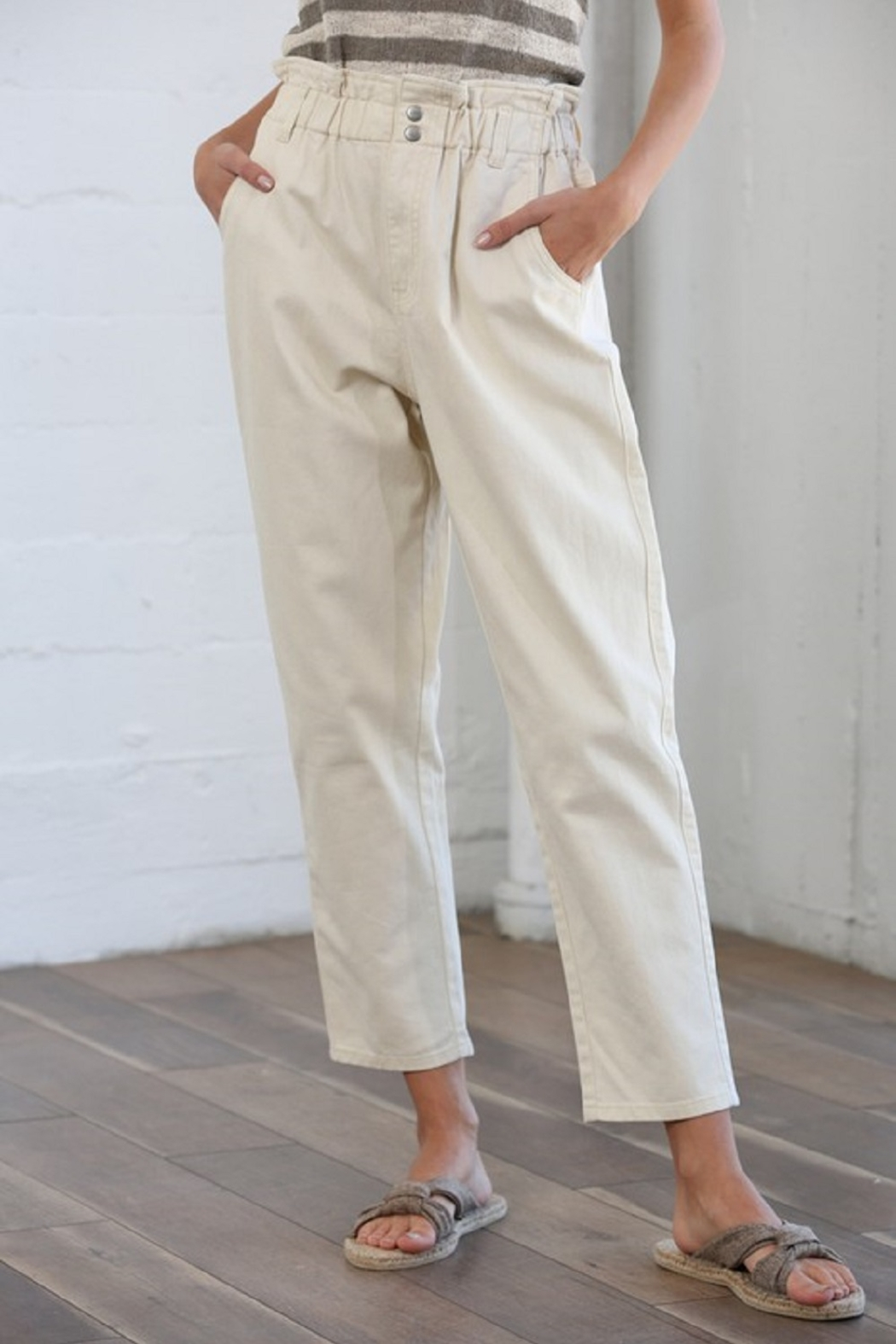 By Together Pocketed Straight Line Pants - Main Image