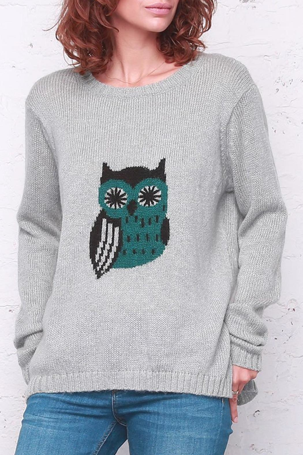 Wooden Ships Poe Owl Crewneck - Front Cropped Image