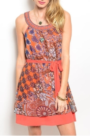 Poema Moroccan Sleeveless Dress - Product Mini Image