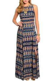 Poema Paisley Maxi Dress - Front cropped