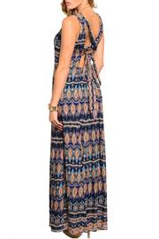 Poema Paisley Maxi Dress - Front full body