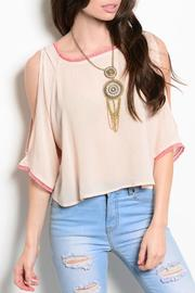 Poema Pink Tassels Top - Product Mini Image
