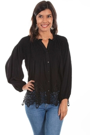 Scully Poet Shirred Blouse - Product Mini Image