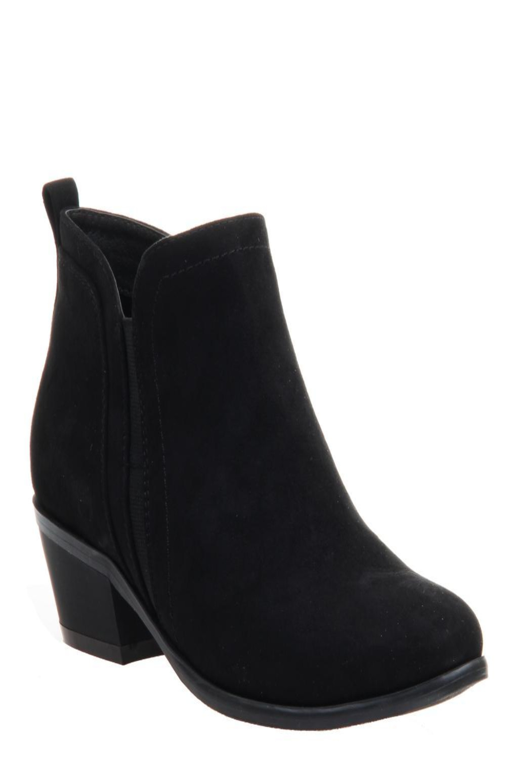 CONSOLIDATED SHOE CO Poet Suede Bootie - Front Cropped Image