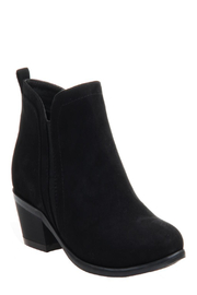 CONSOLIDATED SHOE CO Poet Suede Bootie - Front cropped