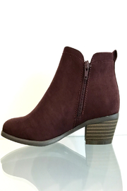 CONSOLIDATED SHOE CO Poet Suede Bootie - Side cropped