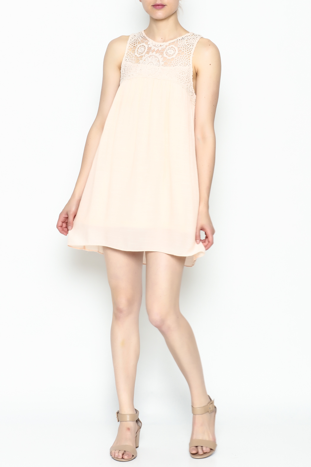 Poetry Lace Summer Dress - Side Cropped Image