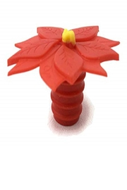 Charles Viancin Poinsettia Bottle Stoppers - Product Mini Image