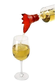 Charles Viancin Poinsettia Wine Pourer - Side cropped