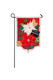 Evergreen Enterprises Poinsettias Garden Flag - Product Mini Image