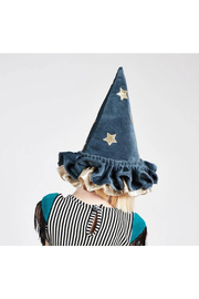 Maison A Pointed Blue Witch Hat - Front cropped
