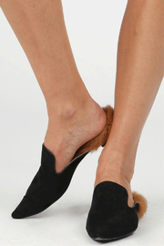 POL Pointed Mule with Faux Fur Lined Heel - Product Mini Image