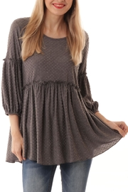 ijoah Pointelle Babydoll Top - Product Mini Image