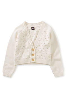 Shoptiques Product: Pointelle Cardigan - Chalk