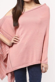 Darzzi Pointelle Cotton Knit Poncho - Front cropped
