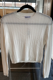 Meli by FAME Pointelle Crew - Front cropped
