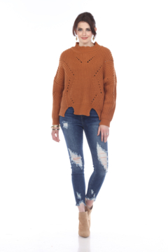 sisters Pointelle Crop Sweater - Product List Image
