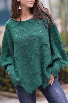 Esley Pointelle Scallop Sweater - Product List Image