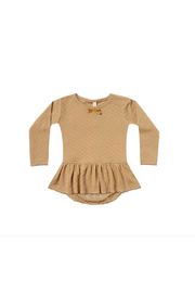 Quincy Mae Pointelle Skirted Onesie - Front cropped